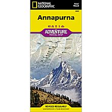 Annapurna, Nepal Adventure Travel and Hiking Map