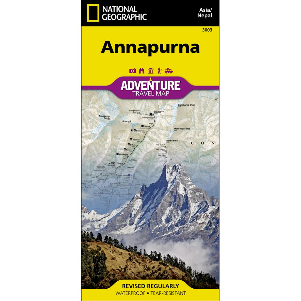 photo: National Geographic Annapurna, Nepal Adventure Map international paper map