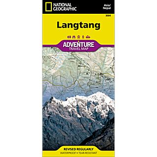 National Geographic Langtang, Nepal, Adventure Map