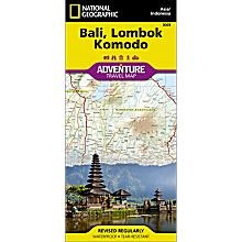 Bali, Lombok, and Komodo Adventure Map, 2012