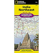 India Northeast Adventure Map, 2011