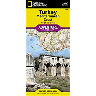 National Geographic Turkey, Mediterranean Coast Adventure Map