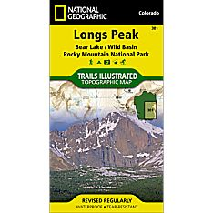 301 Longs & Mchenrys Peak Trail Hiking Map