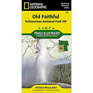View 302 Southwest Yellowstone - Old Faithful Trail Map image