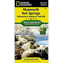 303 Northwest Yellowstone - Mammoth Hot Springs Trail Map, 2008