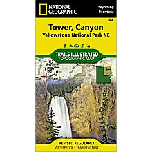 304 Northeast Yellowstone - Tower & Canyon Trail Hiking Map