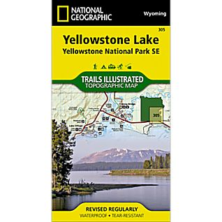 View 305 Southeast Yellowstone - Yellowstone Lake Trail Map image