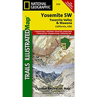 306 Yosemite SW: Yosemite Valley and Wawona Trail Map