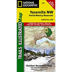 Map for Trails in Yosemite National Park
