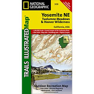 photo: National Geographic Yosemite NE - Tuolumne Meadows and Hoover Wilderness us pacific states paper map