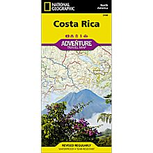 Costa Rica Adventure Travel and Hiking Map