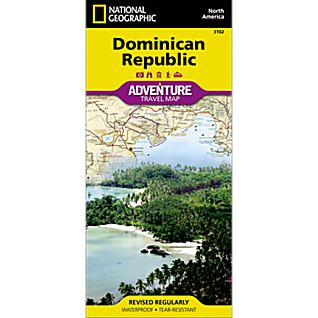 National Geographic Dominican Republic Adventure Map