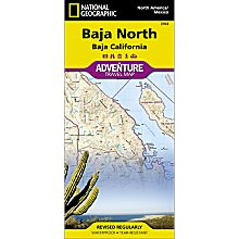 Baja North Adventure Travel and Hiking Map