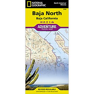 National Geographic Baja North Adventure Map