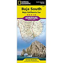 Baja South Adventure Travel and Hiking Map