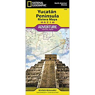 photo: National Geographic Northern Yucatan Peninsula/Maya Sites Adventure Map international paper map