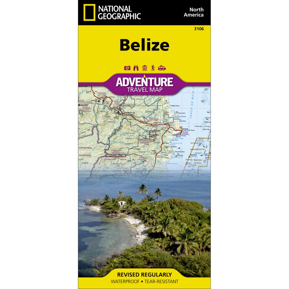 photo: National Geographic Belize Adventure Map