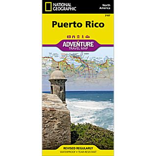 photo: National Geographic Puerto Rico Adventure Map us south paper map