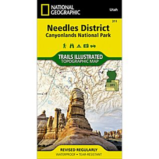 311 Needles District: Canyonlands National Park Trail Map