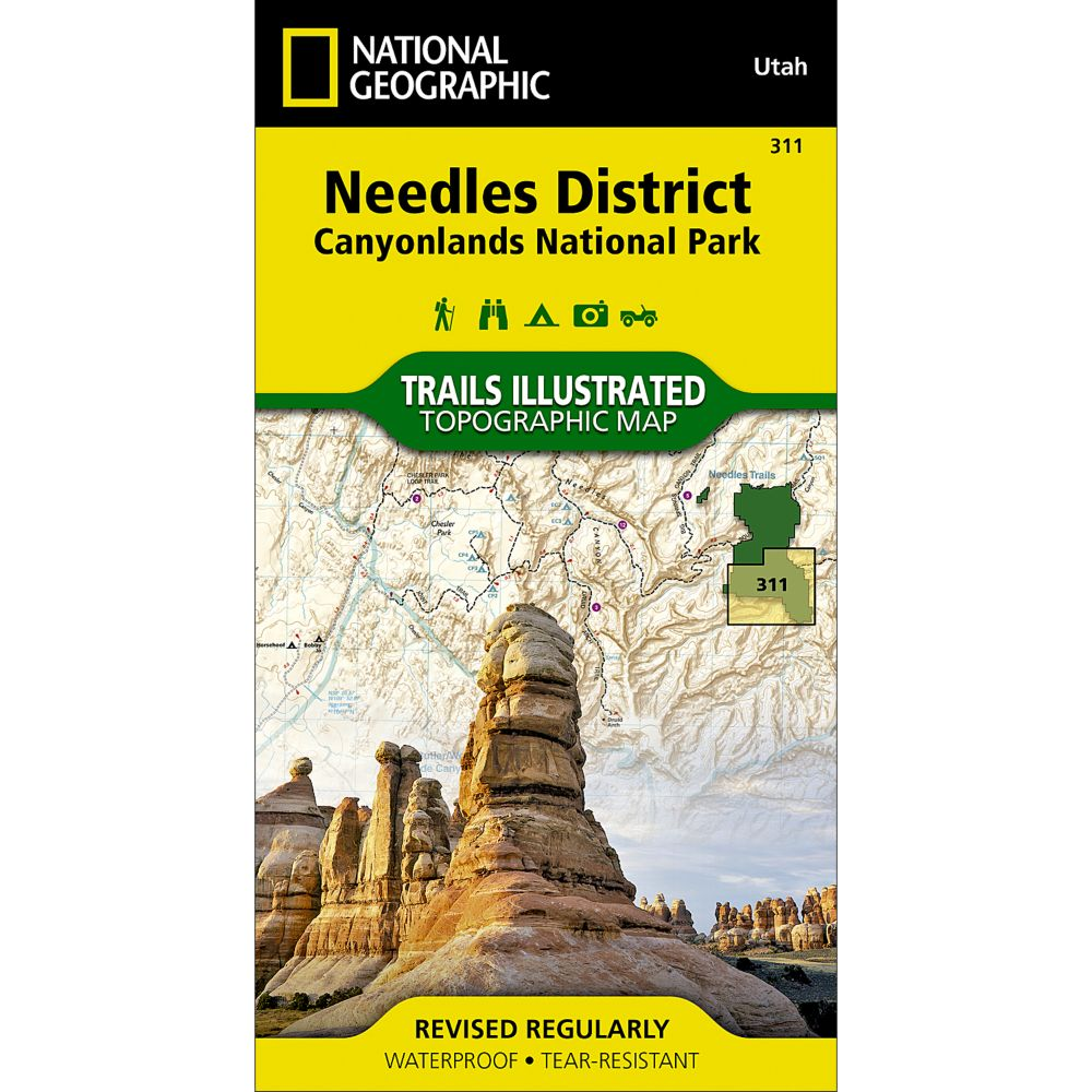 photo: National Geographic Needles District Trail Map - Canyonlands National Park us mountain states paper map