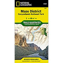 312 Canyonlands National Park: Maze District Trail Hiking Map