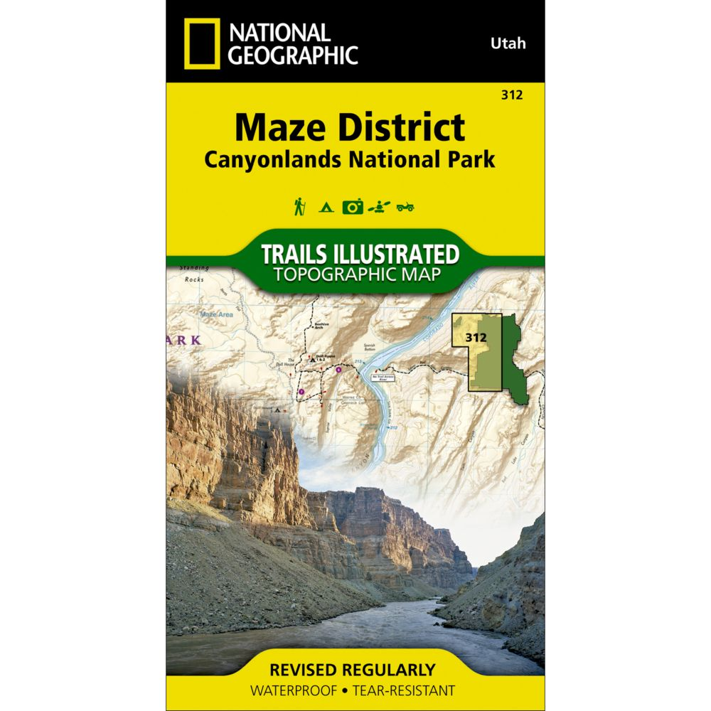 photo: National Geographic Maze District Trail Map - Canyonlands National Park