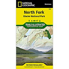 313 North Fork, Glacier National Park Trail Map, 2009