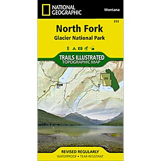 National Geographic North Fork Trail Map - Glacier National Park