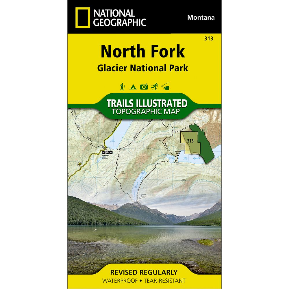 photo: National Geographic North Fork Trail Map - Glacier National Park