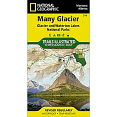 314 Many Glacier: Glacier and Waterton Lakes National Parks Trail Map