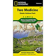315 Two Medicine, Glacier National Park Trail Map, 2009
