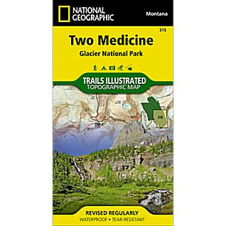 National Geographic Two Medicine Trail Map - Glacier National Park