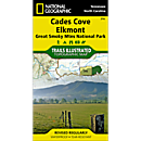 316 Cades Cove, Elkmont: Great Smoky Mountains National Park Trail Map