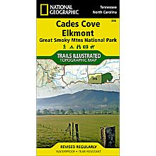 316 Cades Cove / Elkmont, Great Smoky Mountains National Park Trail Map