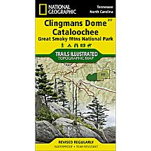 317 Clingmans Dome / Cataloochee, Great Smoky Mountains National Park Trail Map