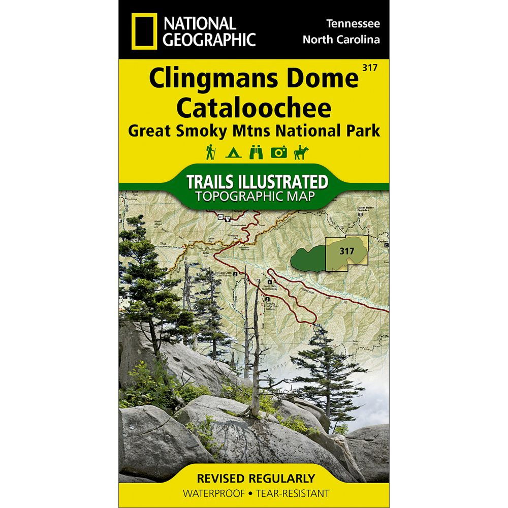 photo: National Geographic Clingmans Dome/Cataloochee Map - Great Smoky Mountains National Park us south paper map