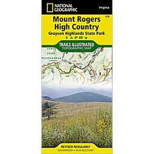 View 318 Mount Rogers High Country / Grayson Highlands State Park Trail Map image