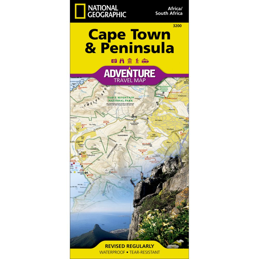 National Geographic Cape Town & Peninsula Adventure Map