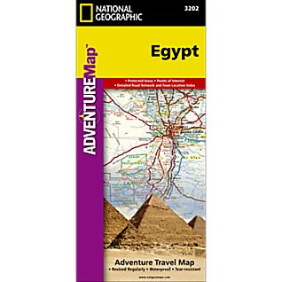 National Geographic Egypt Adventure Map