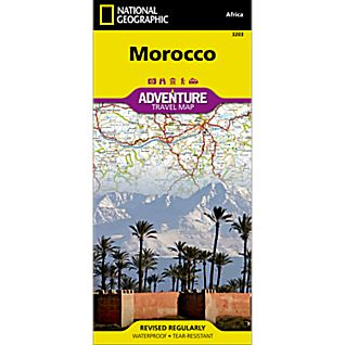 National Geographic Morocco Adventure Map