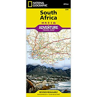 National Geographic South Africa Adventure Map