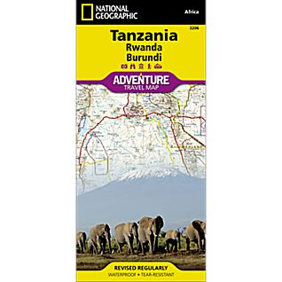 photo: National Geographic Tanzania, Rwanda, Burundi Adventure Map international paper map