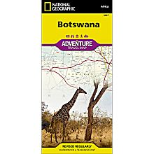 Botswana Adventure Map, 2012