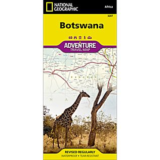 photo: National Geographic Botswana Adventure Map international paper map