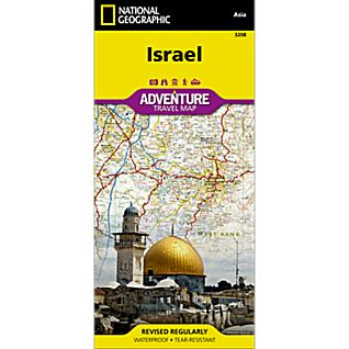National Geographic Israel Adventure Map
