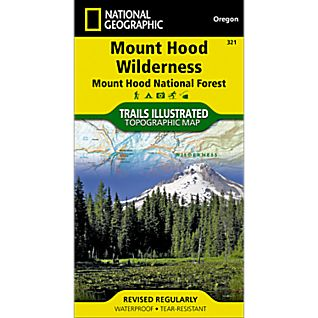 photo: National Geographic Mount Hood Wilderness Trail Map