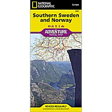 Southern Norway and Sweden Adventure Map, 2011