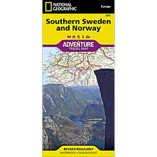 photo: National Geographic Southern Norway and Sweden Adventure Map international paper map