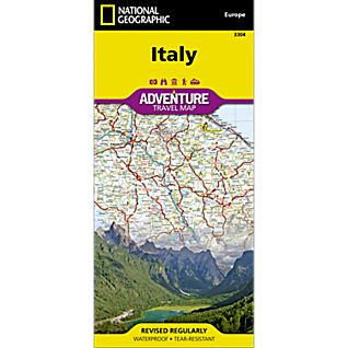 National Geographic Italy Adventure Map