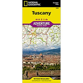 photo: National Geographic Tuscany Adventure Map international paper map